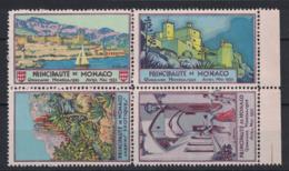 "1935 - JOLI BLOC DE 4 TIMBRES VIGNETTES "" QUINZAINE MONEGASQUE "" NEUF SG TTB / AVRIL MAI (GRAND PRIX DE MONACO ?) - Nuevos"