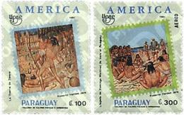 Ref. 30844 * MNH * - PARAGUAY. 1991. AMERICA-UPAEP. DISCOVERY JOURNEYS . AMERICA-UPAEP 1991 -  VIAJES DEL DESCUBRIMIENTO - Tir à L'Arc