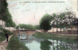 B57663 Cpa Amiens - Le Canal De La Somme - Amiens