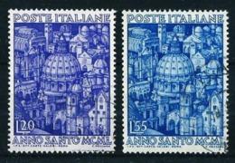 Italia Nº 558/9  (año 1950) Usado - 6. 1946-.. Republic
