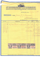 1938 F 1,26 Schoenfabriek A.F. Janssens Oisterwijk Shoes > Danvers Utecht  (c42-2a) - Fiscale Zegels