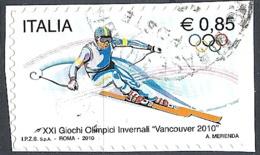 Italia, 2010 Olimpiadi Di Vancouver, 0.85€ Policromo # Sassone 3151 - Michel 3359 - Scott 2985  USATO - 6. 1946-.. Repubblica