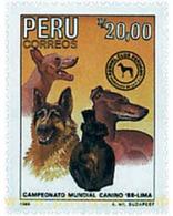 Ref. 49779 * MNH * - PERU. 1988. LIMA 88 WORLD CANNINE CHAMPIONSHIPS . CAMPEONATO MUNDIAL CANINO 88 EN LIMA - Dogs