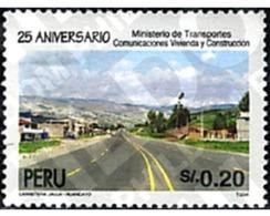 Ref. 43975 * MNH * - PERU. 1995. 25 ANIVERSARIO DEL MINNISTERIO DE TRANSPORTES COMUNICACIONES VIVIENDA Y CONSTRUCCION - Perú