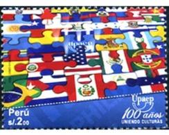 Ref. 267025 * MNH * - PERU. 2011. AMERICA UPAEP 2010 - SIMBOLOS NACIONALES - Otros