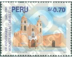Ref. 306069 * MNH * - PERU. 1995. 350 ANIVERSARIO DE LA FUNDACION DEL MONASTERIO DE LAS CARMELITAS DE LIMA - Perú