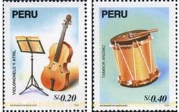 Ref. 351565 * MNH * - PERU. 1995. MUSIC INSTRUMENTS . INSTRUMENTOS MUSICALES - Perù
