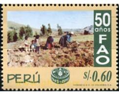 Ref. 351651 * MNH * - PERU. 1996. 50 AÑOS FAO - ACF - Aktion Gegen Den Hunger