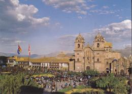 VISTA PANORAMICA DE LA PLAZA DE ARMAS DEL CUSCO Y LA IGLESIA DE LA COMPANIA   AUTENTICA 100% - Perù