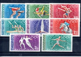 Hungria Nº Aereo 301-08 Tema OLimpiadas, Serie Completa En Nuevo 6 € - Verano 1968: México