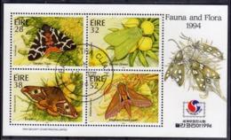 EIRE IRELAND IRLANDA 1994 PHILAKOREA 94 FAUNA AND FLORA BLOCK SHEET BLOCCO FOGLIETTO FIRST DAY SPECIAL CANCEL FDC - Blocchi & Foglietti