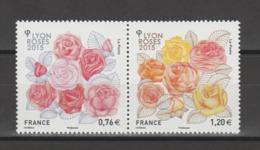FRANCE / 2015 / Y&T N° 4957/4958 ** : Dyptique Congrès Mondial Des Roses (Lyon) X 1 - Unused Stamps