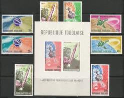 Togo,French Satellites 1967.,set+block,MNH - Togo (1960-...)