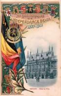 Bruges - 75e Anniversaire De L'Indépendance 1830-1905 - Hôtel De Ville - Brugge