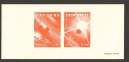 """FRANCIA / FRANCE /FRANKREICH  - EUROPA 2009 - TEMA """"ASTRONOMIA"""" - GRAVURE Or PRINT PROOF STAMPS From SOUVENIR SHEET - Europa-CEPT"""