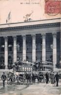 France - 75 - Paris - Les Omnibus ' Passy-Bourse ' Et ' Vaugirard-Bourse ' Devant La Bourse - France