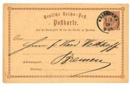 Deutsche Reichs-Post, Postkarte, Hannover 1874 Nach Bremen - Preussen