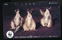 JAPAN  Telefonkarte -WWF Tiere - 110-62424 - Siehe Scan - Telefonkarten