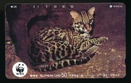 JAPAN  Telefonkarte -WWF Tiere - 110-62423 - Siehe Scan - Telefonkarten