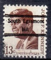 USA Precancel Vorausentwertung Preo, Locals Massachusetts, South Egremont 848 - Vorausentwertungen