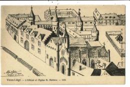 CPA-Carte Postale-Belgique Vieux Liège -L'Official Et L'Eglise St Mathieu En 1650 VM7449 - Liege