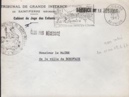 """Réunion St-Pierre 17-6 1967 Flamme =o """" Saint-Pierre Une Perle Sur L'Océan - Oblitérations Mécaniques (flammes)"""