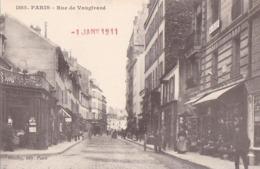 PARIS XV Edition GONDRY N° 1585 Rue De VAUGIRARD Animée CHAPELLERIE Enseigne Chapeau  CAFE POIRET - Distretto: 15