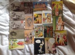 Lot De 18 Cartes Illustrées Taylor, Mastroianni, Carrière, Chaperon - Illustratori & Fotografie