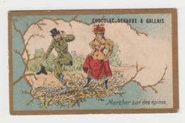 BB971 - CHROMO CHOCOLAT DEBAUVE & GALLAIS - Marcher Sur Des épines - Chocolat
