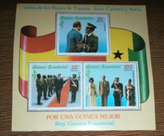 GUINEA ECUATORIAL EQUATORIAL 1978 VISITA REYES DE ESPAÑA ERROR BANDERA FLAG NO CATALOGADA NOT CATALOGED RARA VERY RARE! - Equatorial Guinea
