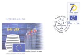2019. 70 Years Of  Council Of Europe, FDC,  Mint/** - European Ideas