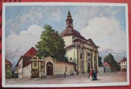 Ljubljana / Laibach - Künstlerkarte Deutsche Ritterordens-Kirche Und Anastasius Grün-Denkmal - Slowenien