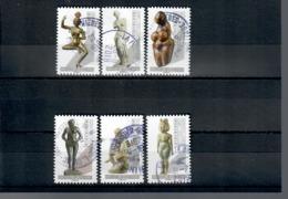 De La Serie Nu Dans L'art N° 1697,1698,1699,1703,1704 & 1705-cachets Ronds - Frankreich