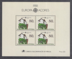 A 11 ) Free Shipping To  // Portugal - Acores 1988 Europa CEPT Transportmittel Kutsche - Europa-CEPT