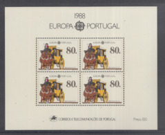 A 11 ) Free Shipping To  // Portugal 1988 Europa CEPT Transportmittel Kutsche - Europa-CEPT