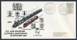 Nederland Netherlands Pays Bas 1978 Cover Brief Enveloppe - 100 Jr. Spoorweg Zutphen - Winterswijk / Eisenbahn / Railway - Treinen