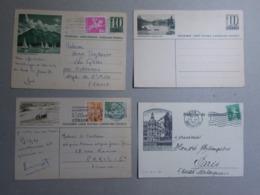 Marcophilie - Lettre Enveloppe Obliteration - Lot 4 Cartes & Entiers Postaux Illustrés SUISSE (2557) - Entiers Postaux