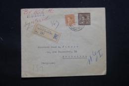 IRAQ - Enveloppe En Recommandé De Baghdad Pour Bruxelles En 1935, étiquette Belge Au Verso - L 43386 - Iraq