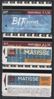 Roma, 2014-18, Metrebus, Arte: Street Art Gaia, Matisse, 3 Biglietti - Métro