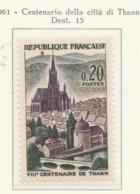 PIA  - FRANCIA  -  1961  : 8° Centenario Della Città Di  Thann - (Yv  1308) - France