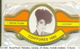 Vitolas Royal Flash. Peinados. Naranja. FM. Ref. 14-1481 - Bagues De Cigares