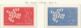 PIA - FRANCIA - 1961 : Europa  - (Yv 1309-10) - Europa-CEPT