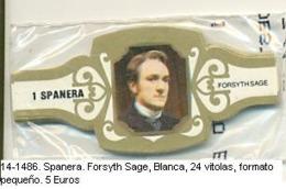 Vitolas Spanera. Forsyth Sage. FP. Blanca. Ref. 14-1486 - Vitolas (Anillas De Puros)