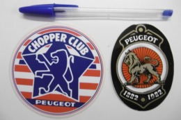 Autocollant Stickers - Cycles PEUGEOT CHOPPER CLUB - Lot De 2 Autocollants - Autocollants