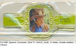 Vitolas Spanera. Gunsmoke Serie TV. Serie E. Verde. FM. Ref. 14-1488 - Vitolas (Anillas De Puros)
