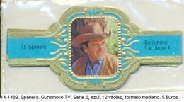 Vitolas Spanera. Gunsmoke Serie TV. Serie E. Azul. FM. Ref. 14-1489 - Vitolas (Anillas De Puros)