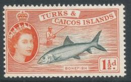 Turks & Caicos Islands. 1957 QEII. 1½d MH. SG 238 - Turks And Caicos