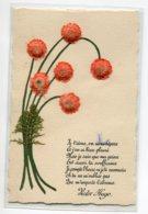 CARTE  Fleurs Collage Bouquet Poeme Victor Hugo    D13 2019 - Otros