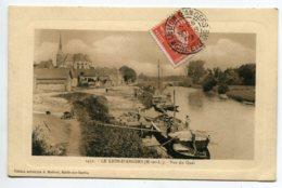 49  LE LION D'ANGERS Batellerie Déchargement De Péniches Vue Du Quai 1909 Timb Edit Malicot    D13 2019 - France