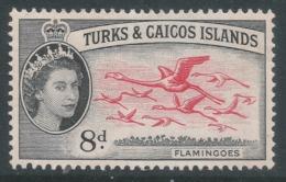 Turks & Caicos Islands. 1957 QEII. 8d MH. SG 245 - Turks And Caicos